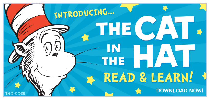 Introducing The Cat in the Hat Read and Learn Edition! Now available for iPad + iPhone