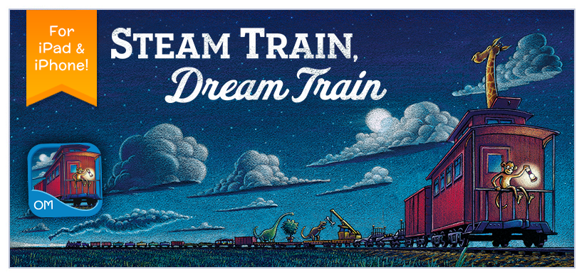Steam Train, Dream Train featuring irresistible artwork by best-selling illustrator Tom Lichtenheld and sweet, rhyming text, this book will have train lovers of all ages begging for more.
